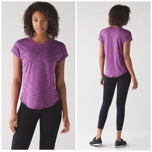 Lululemon Run Around Tee Heathered Aurora Purple